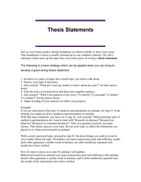 Proposal Argument Essay Examples  Essay On Healthy Eating Habits also Essay In English Writing A Good Thesis Statement Protein Synthesis Essay