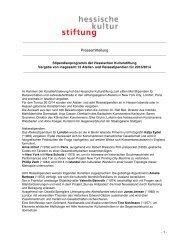 Pressemitteilung (pdf) - Hessische Kulturstiftung