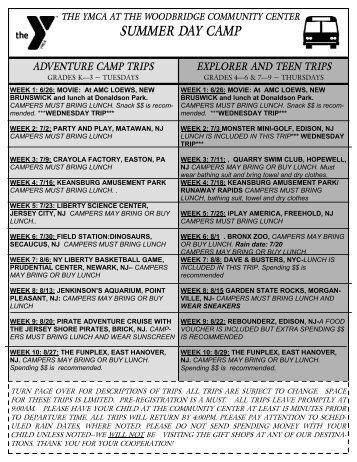 2013 Camp Trip List