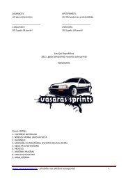 www.vasarassprints.lv – piedalies un atbalsti autosportu! Latvijas ...