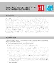2012-06-13 Règlement Webdocumentaire 2012 FR - France 24