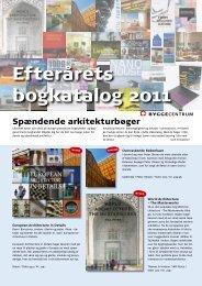 Efterårets bogkatalog 2011 - Byggecentrum