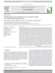 Spatial patterns and associations of six congeneric species in an old ...