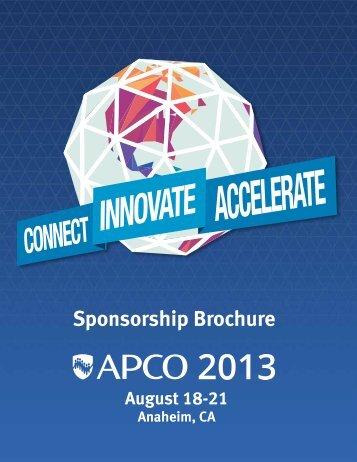 Sponsorship Brochure - APCO 2013