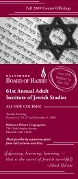 61st Annual Adult Institute of Jewish Studies - The Associated