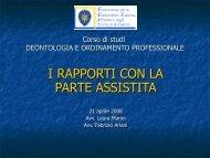 Rapporti cliente (Avv. Ariani 21.04.08) - Fondazione Forense Firenze