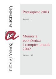 Any 2003 - Web URV - Universitat Rovira i Virgili
