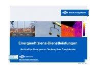 Energieeffizienzdienstleistungen - unser Angebot
