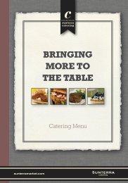 Catering Menu - Sunterra Market
