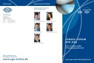 JUNGES FORUM DER AGA AGA – Europas größte Arthroskopiegesellschaft