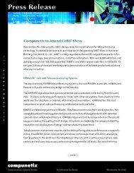 Press Release - Compunetix