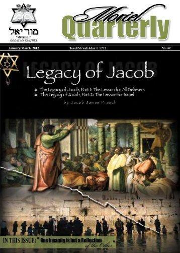 The Legacy of Jacob - Moriel Ministries