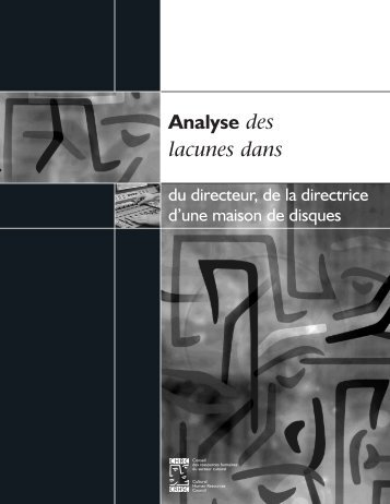 Analyse des lacunes dans du directeur, de la directrice d'une ...