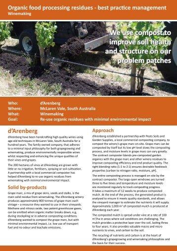 d'Arenberg, McLaren Vale - Compost for Soils