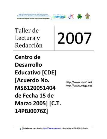 taller de lectura y redacción i - Mxgo.net