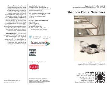 Shannon Collis: Overtones - Open Studio