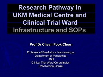 Research Pathway in Faculty of Medicine & Clinical Trial Ward