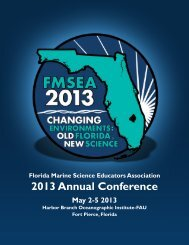 Conference Program - Florida Marine Science Educators Association