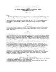 Všeobecne záväzné nariadenie mesta Banská Štiavnica