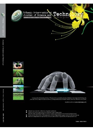 Download - Maejo International Journal of Science and Technology