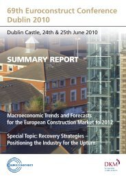 69th Euroconstruct Conference Dublin 2010 SUMMARY REPORT