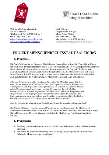 Projektplanung Menschenrechtsstadt Salzburg Plattform Plenum ...