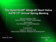 The SynerGraft Allograft Heart Valve