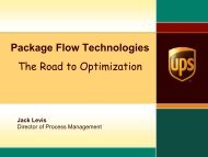 Package Flow Technologies The Road to Optimization - INFORMS NY