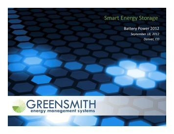 Smart Energy Storage - Battery Power Magazine