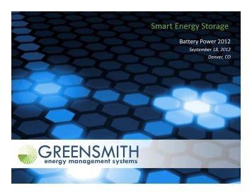 Smart Energy Storage - Battery Power Magazine