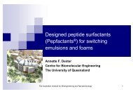 for switching emulsions and foams - Australian Institute for ...