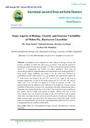 Some Aspects of Biology, Toxicity and Esterase Variability ... - IJGHC
