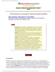 The information use environment of abused and neglected children