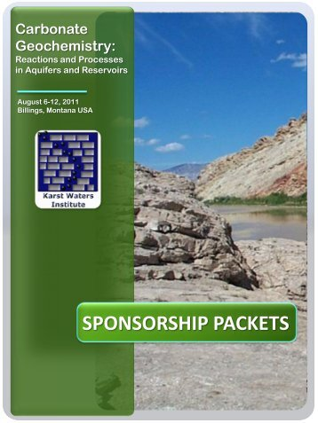 SPONSORSHIP PACKETS - Karst Waters Institute