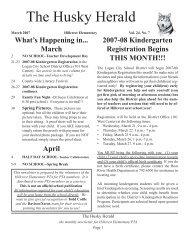 Husky Herald 03-07.indd - Hillcrest Elementary
