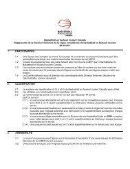 Basketball en fauteuil roulant Canada Règlements de la Division ...