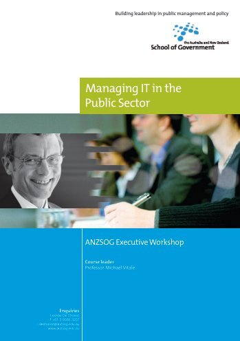 Managing IT in the Public Sector - Australia and New Zealand ...