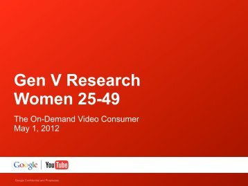 Gen V Research Women 25-49