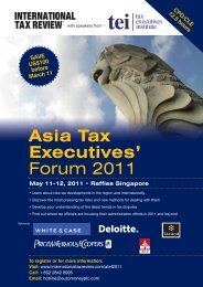 Asia Tax Executives' Forum 2011 - BMR Advisors