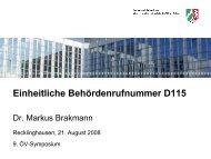 Einheitliche Behördenrufnummer D115 - Oev-symposium.de