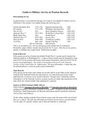 Guide to Military Service & Pension Records - Mid-Continent Public ...