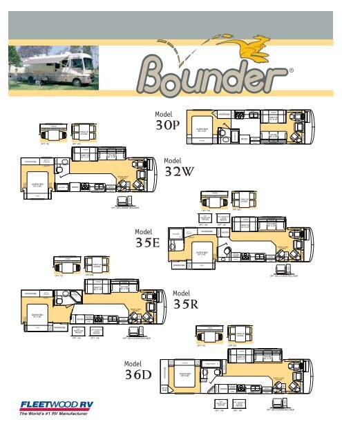 2003 Fleetwood Bounder Specifications Pdf With Floorplans And