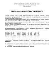 TIROCINIO IN MEDICINA GENERALE - Medicina e Chirurgia