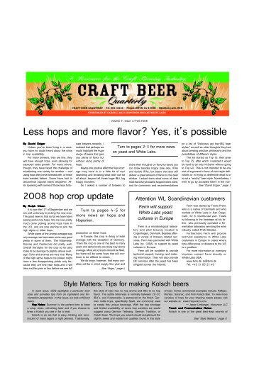 Less hops and more flavor? Yes, it's possible - Hopunion