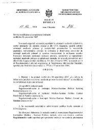 Ordin Nr. 816 din 17.12.2010 cu privire la modificarea şi ...