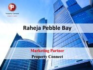 Raheja Pebble Bay - Property Connect Search - Propconnect.in