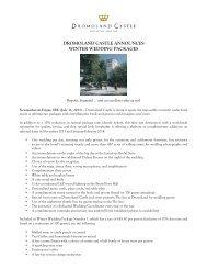 dromoland castle announces winter wedding packages