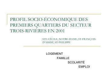 profil socio-économique des premiers quartiers du ... - Tamarack