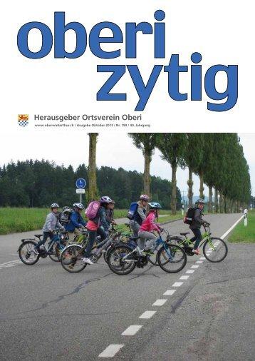 Ausgabe Oktober 2013 / Nr. 199 Teil 1 - Ortsverein Oberwinterthur
