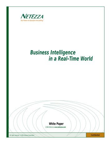 Business Intelligence in a Real-Time World